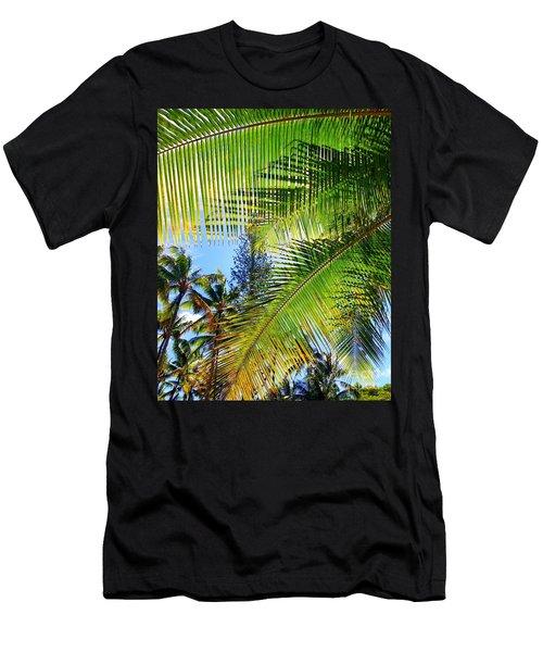Hawaiian Palm Men's T-Shirt (Athletic Fit)