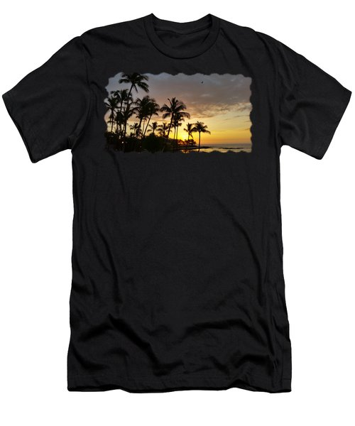Hawaiian Sunset Design Men's T-Shirt (Slim Fit) by Pamela Walton