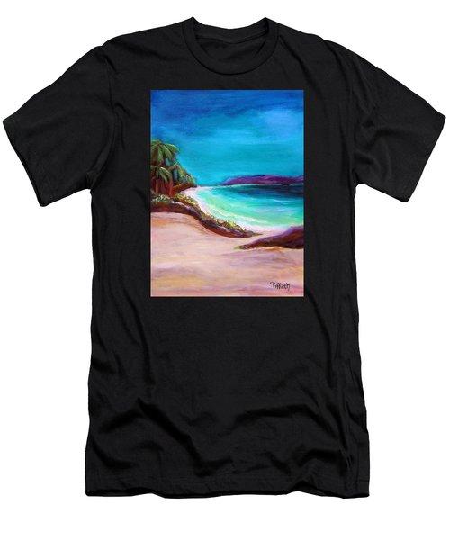 Hawaiin Blue Men's T-Shirt (Athletic Fit)