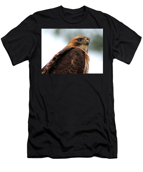 Men's T-Shirt (Slim Fit) featuring the photograph Hawk by Bruce Patrick Smith