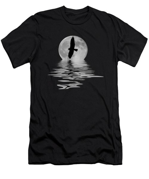 Hawk In The Moonlight 2 Men's T-Shirt (Athletic Fit)