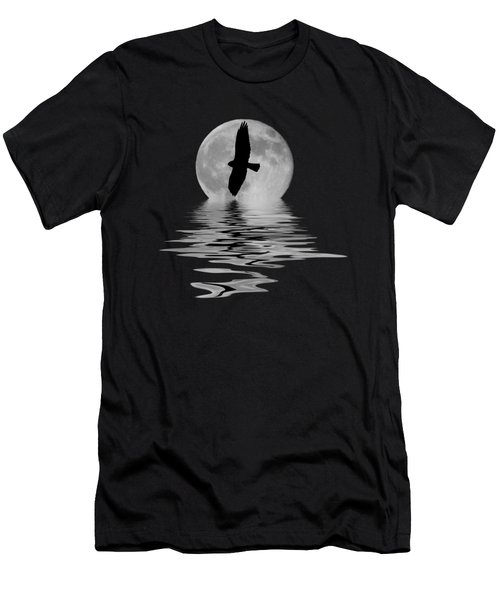Hawk In The Moonlight 2 Men's T-Shirt (Athletic Fit)