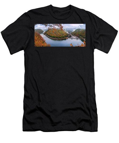 Hawks Nest State Park Autumn Splendor Men's T-Shirt (Athletic Fit)