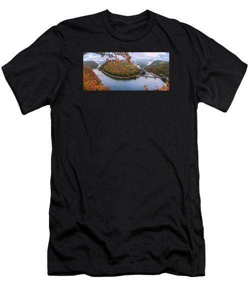 Hawks Nest State Park Autumn Splendor Men's T-Shirt (Athletic Fit)