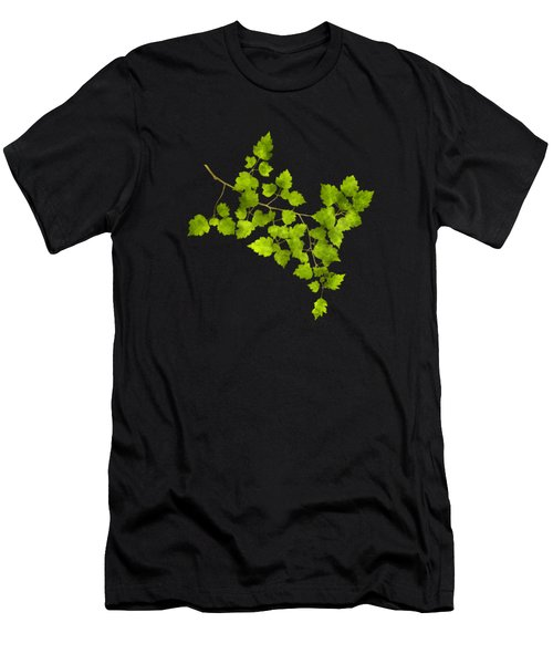 Hawthorn Pressed Leaf Art Men's T-Shirt (Athletic Fit)