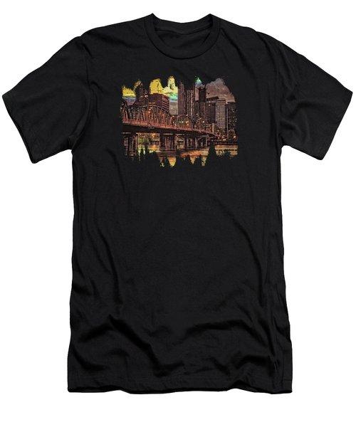 Hawthorne Bridge At Sunset  Men's T-Shirt (Athletic Fit)