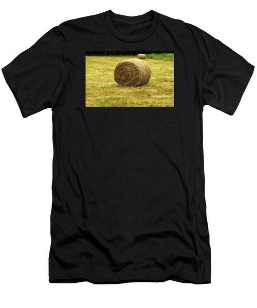 Hay Bale  Men's T-Shirt (Athletic Fit)