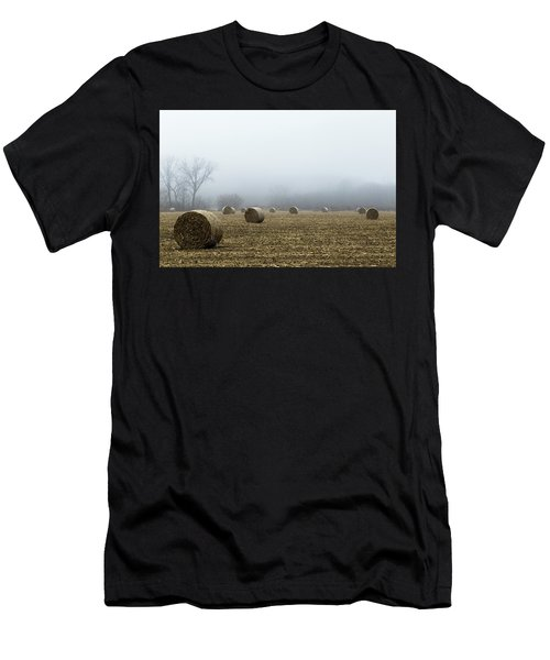 Hay Bales In A Field Men's T-Shirt (Athletic Fit)