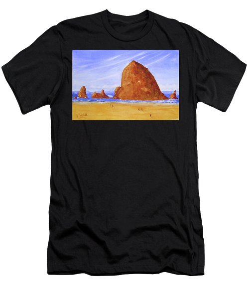 Hay Stack Rock Men's T-Shirt (Athletic Fit)