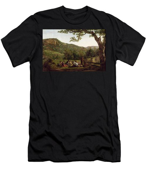 Haymakers Picnicking In A Field Men's T-Shirt (Athletic Fit)