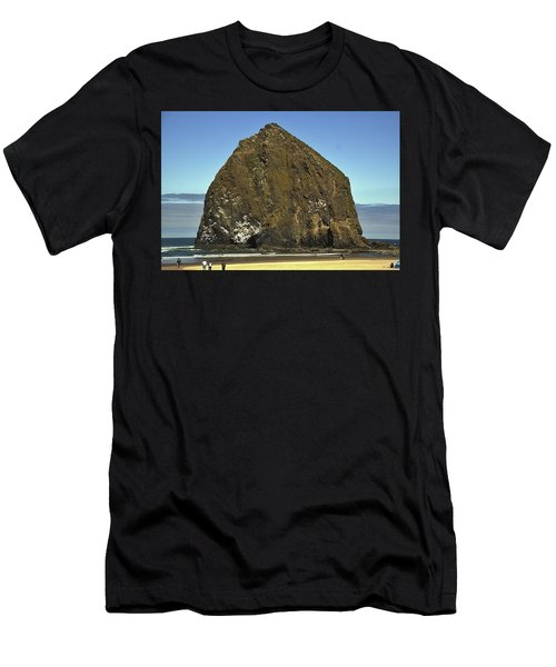 Haystack Rock, Cannon Beach, Or Men's T-Shirt (Athletic Fit)