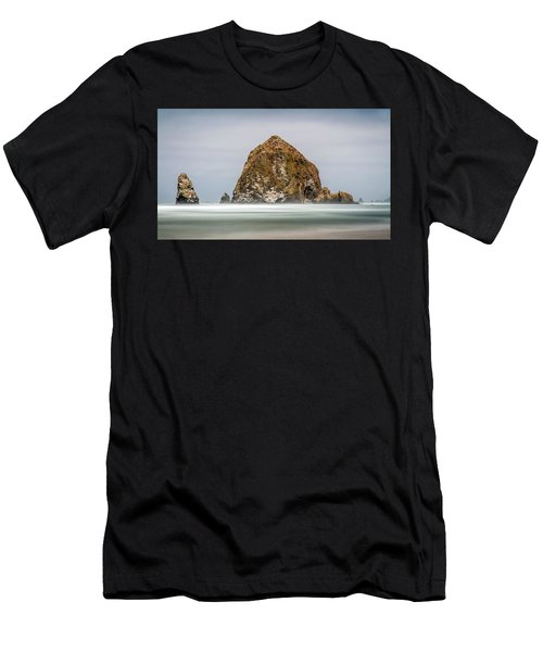 Men's T-Shirt (Athletic Fit) featuring the photograph Haystack Rock Oregon by Pierre Leclerc Photography