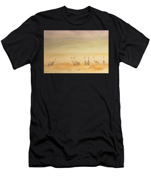 Hazy Days Cranes Men's T-Shirt (Athletic Fit)