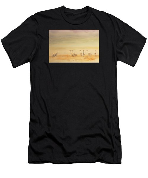 Hazy Days Cranes Men's T-Shirt (Athletic Fit)