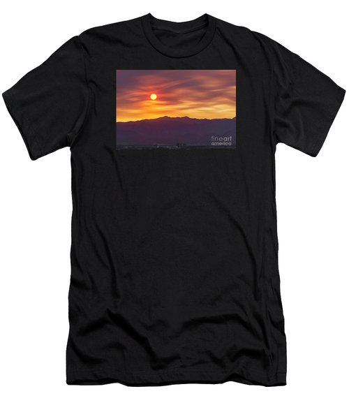 Hazy Las Vegas Sunset Men's T-Shirt (Athletic Fit)