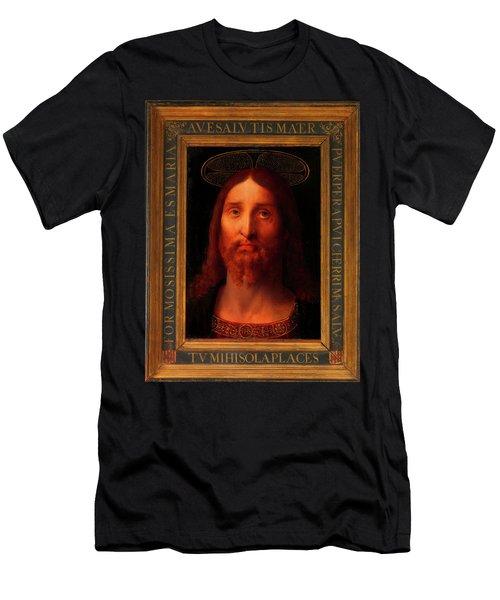 Men's T-Shirt (Slim Fit) featuring the painting Head Of Christ                                   by Fernando De La Almedina