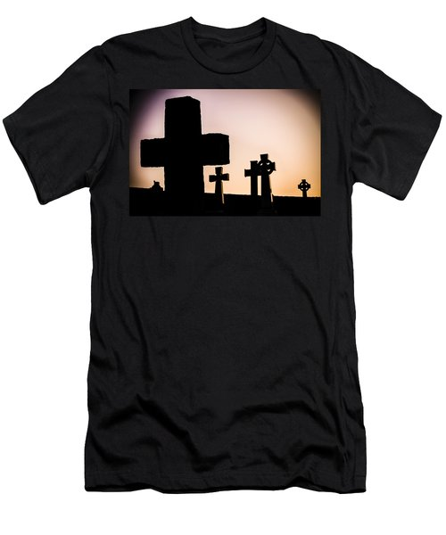 Headstones At Night, Peak District, England, Uk Men's T-Shirt (Athletic Fit)