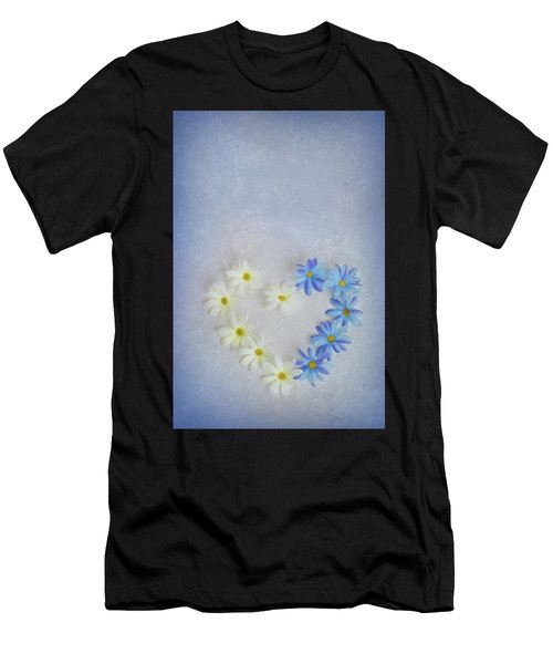 Heart And Flowers Men's T-Shirt (Athletic Fit)