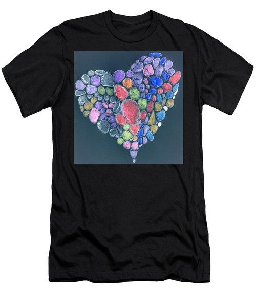 Heart Mosaic Men's T-Shirt (Athletic Fit)