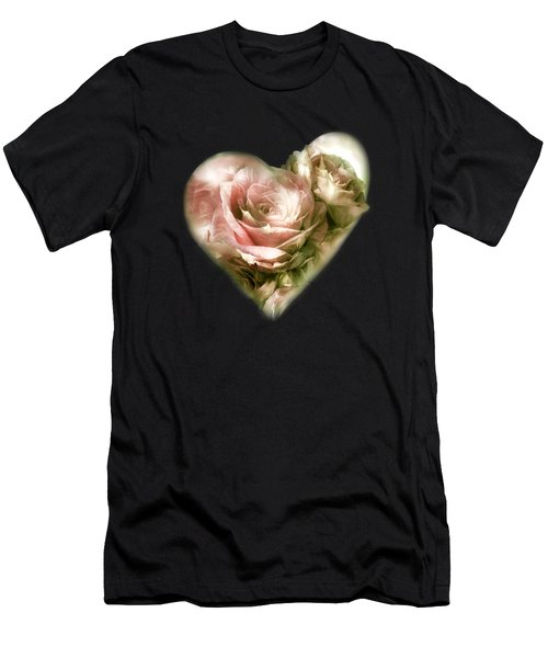 Heart Of A Rose - Antique Pink Men's T-Shirt (Athletic Fit)