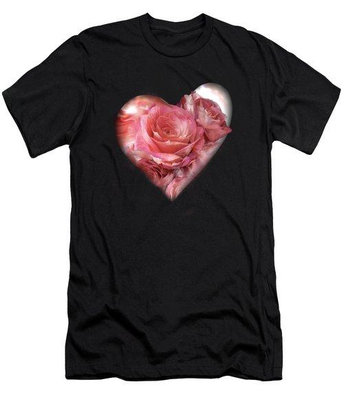 Heart Of A Rose - Melon Peach Men's T-Shirt (Athletic Fit)