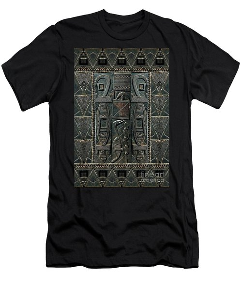 Men's T-Shirt (Slim Fit) featuring the digital art Heart Of Africa by Lora Serra