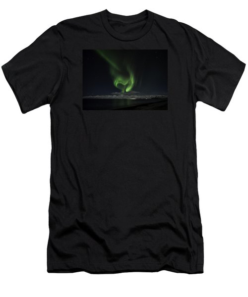 Heart Of Northern Lights Men's T-Shirt (Athletic Fit)