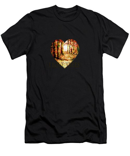 Heart Of The Forest-abstract Painting By V.kelly Men's T-Shirt (Athletic Fit)