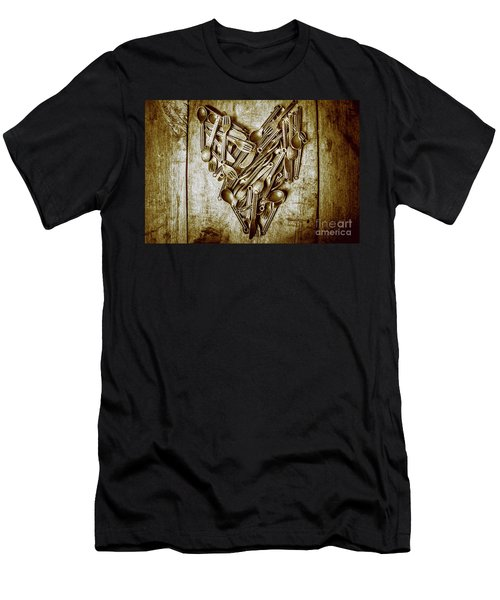 Heart Of The Kitchen Men's T-Shirt (Athletic Fit)
