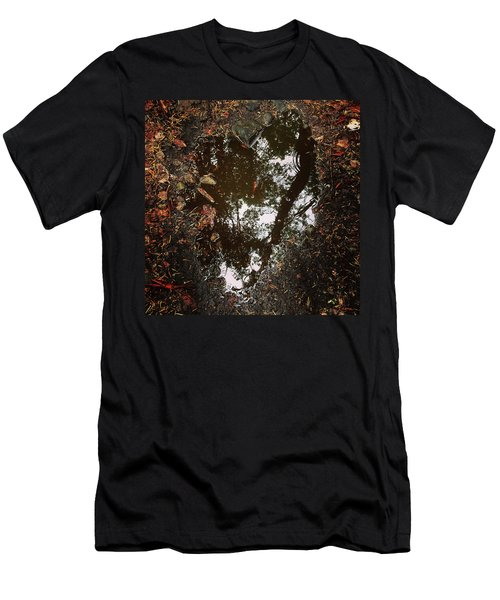 Men's T-Shirt (Athletic Fit) featuring the photograph Heart Of The Wood by Rasma Bertz