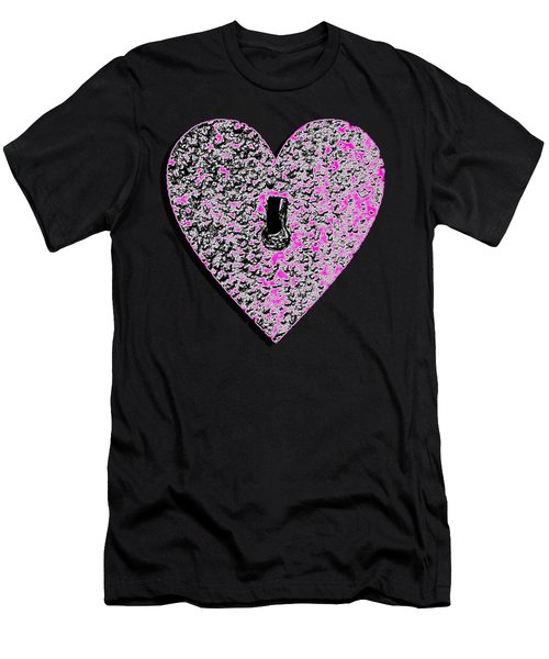 Heart Shaped Lock Pink .png Men's T-Shirt (Athletic Fit)