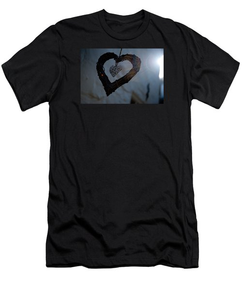 Heart With A Heart II Men's T-Shirt (Athletic Fit)