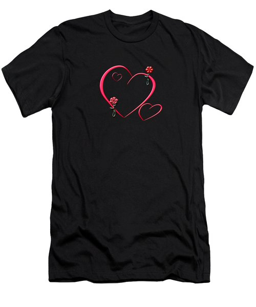 Hearts And Flowers Men's T-Shirt (Athletic Fit)