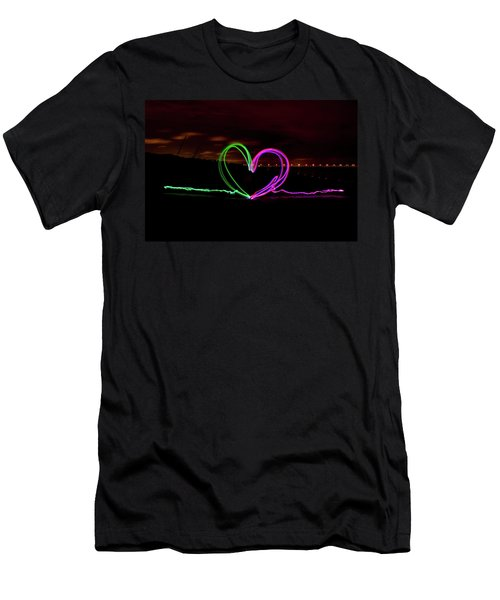 Hearts In The Night Men's T-Shirt (Athletic Fit)