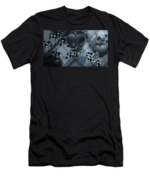 Hearts N' Vines Green Men's T-Shirt (Slim Fit) by Carol Crisafi