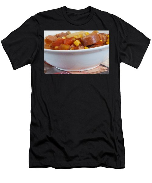 Hearty Ham, Smoked Sausage And Vegetable Soup Men's T-Shirt (Athletic Fit)
