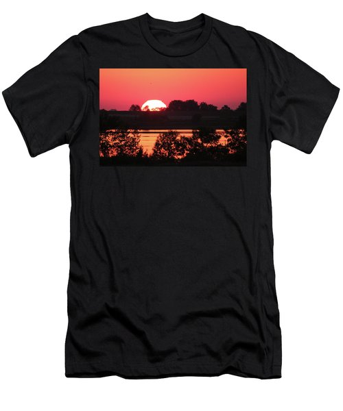 Heat Wave Sunrise Men's T-Shirt (Athletic Fit)
