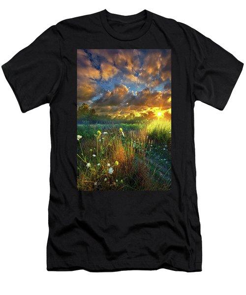 Heaven Knows Men's T-Shirt (Slim Fit) by Phil Koch