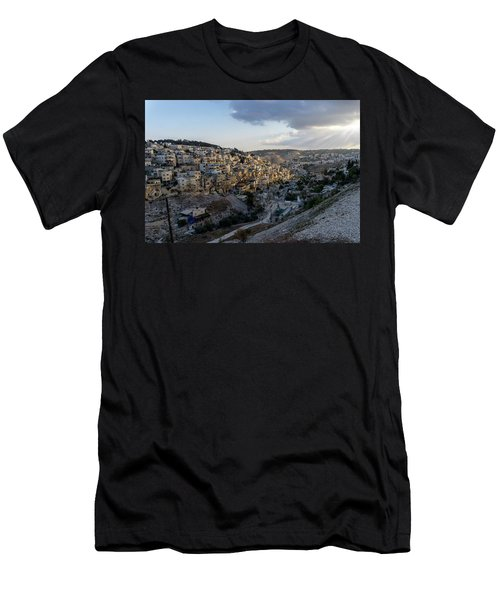 Heaven Shines On The City Of David Men's T-Shirt (Athletic Fit)