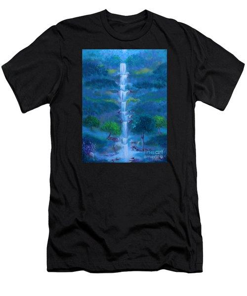 Heavenly Falls Men's T-Shirt (Athletic Fit)