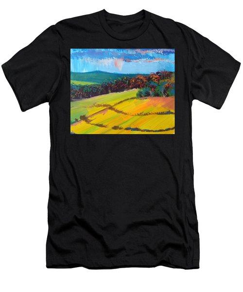 Heavenly Haldon Hills - Devon English Landscape Men's T-Shirt (Athletic Fit)