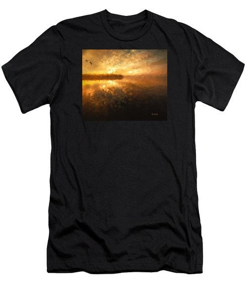 Men's T-Shirt (Slim Fit) featuring the painting Heavenly Journey by Rose-Maries Pictures