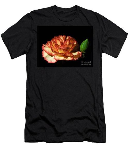 Heavenly Outlined Carnation Flower Men's T-Shirt (Athletic Fit)