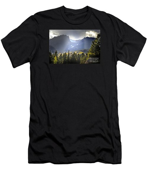 Men's T-Shirt (Slim Fit) featuring the photograph Heavenly Rockies  Rmnp by Nava Thompson