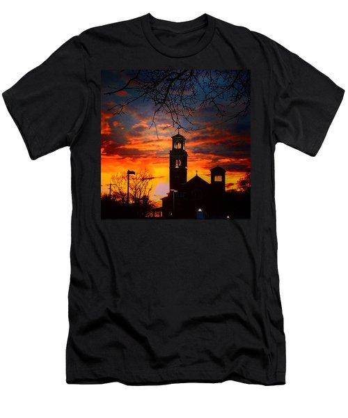 Heavenly Sunset Men's T-Shirt (Athletic Fit)