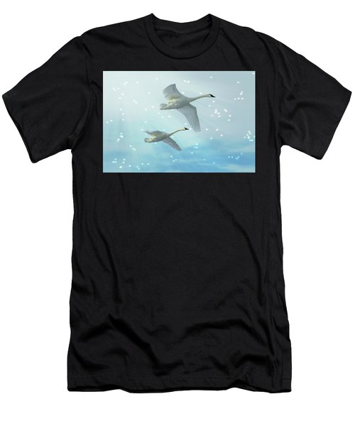 Heavenly Swan Flight Men's T-Shirt (Athletic Fit)