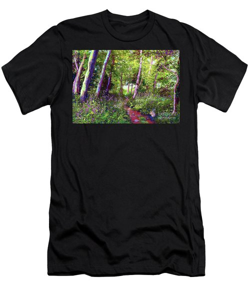 Heavenly Walk Among Birch And Aspen Men's T-Shirt (Athletic Fit)