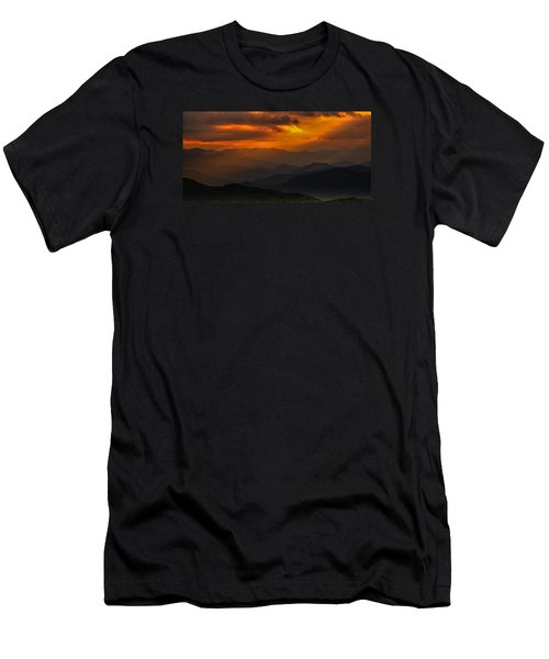 Heaven's Light On The Blue Ridge Parkway Men's T-Shirt (Athletic Fit)