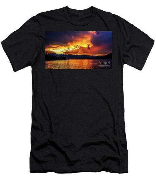 Hebgen Lake Sunset Men's T-Shirt (Athletic Fit)