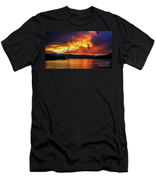 Hebgen Lake Sunset Men's T-Shirt (Athletic Fit)